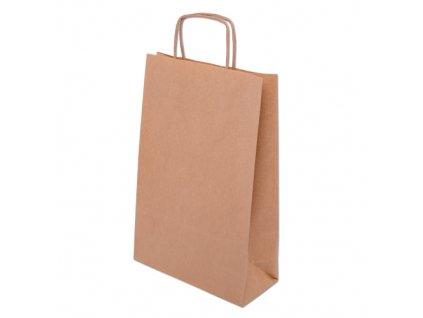 Eko papírové tašky 260x120x350mm - hnědá