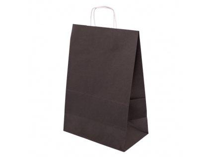 Papírová taška barevná 305x170x445 - černá