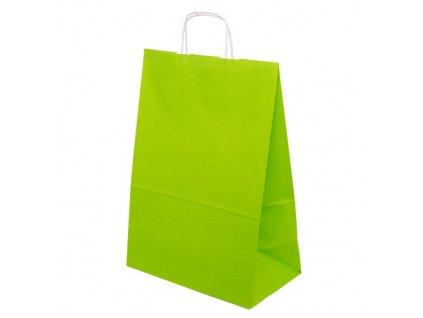Barevná papírová taška 305x170x445mm - světle zelená - 13.0127
