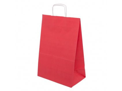 Barevná taška papírová 240x100x320mm - červená - 13.0130