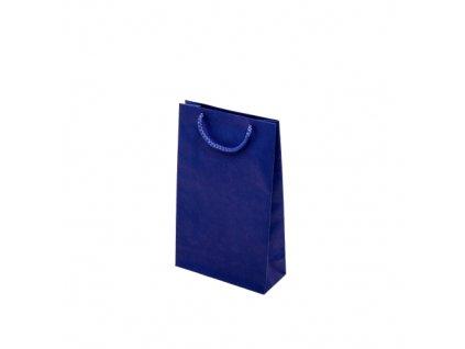 Taška barevná papírová 170x70x250mm - modrá