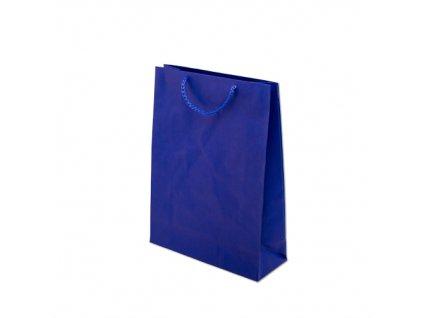 Papírové tašky barevné 240x90x320mm - modrá