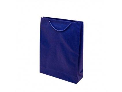 Papírové barevné tašky 300x100x400mm - modrá
