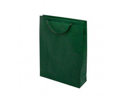 Papírové barevné tašky 300x100x400mm - zelená