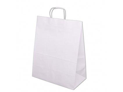 Tašky papírové 305x170x445mm - bílá
