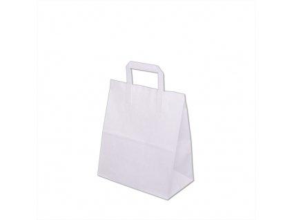 Papírové tašky 260x140x300mm - Bílá