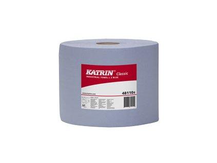 Průmyslová role papírová KATRIN CLASSIC L 2 Modrá, laminovaná - 481108