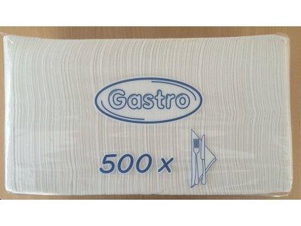 Papírové ubrousky 33x33cm 1-vrstvé GASTRO - 93.0015 - Gastro balení 500ks