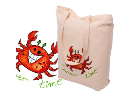 Bavlněná taška s potiskem KRAB