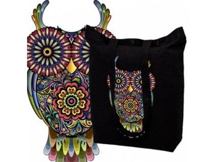 Pevná bavlněná taška s potiskem SOVA - 15.0024