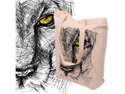 Látková bavlněná taška s potiskem LVICE - 15.0026