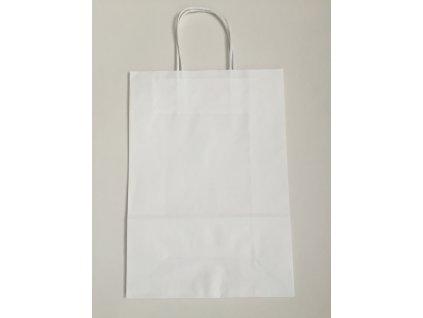 Taška papírová 18x8x22cm - bílá