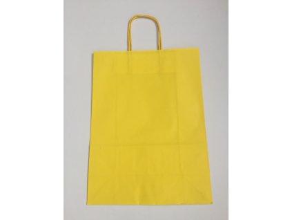 Taška papírová 18x8x22cm - žlutá