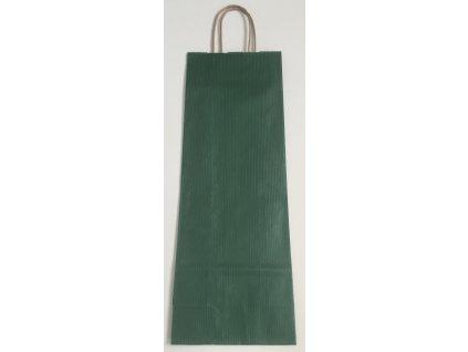 Papírová taška na víno 14x8x39cm - zelená