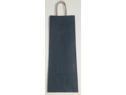 Papírová taška na víno 14x8x39cm - modrá