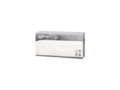 Papírové ubrousky Dinner 3-vrstvý, skládání 1/4 - 115048 - Bílá