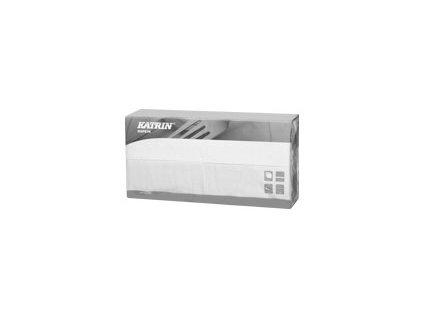 Papírové ubrousky Lunch 2-vrstvý, skládání 1/8 - 113648 - Bílá