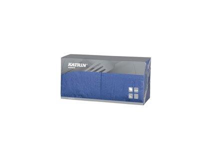 Papírové ubrousky Lunch 3-vrstvý, skládání 1/4 - 114423 - Modrá