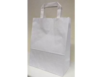Papírová taška 220x100x280mm - bílá