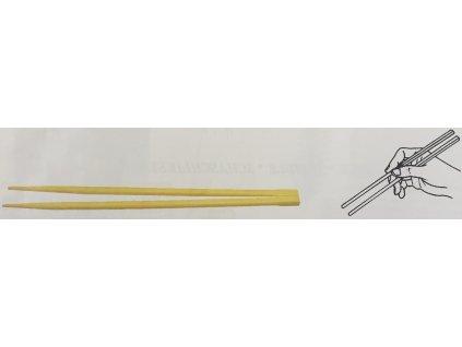 Čínské hůlky 21cm, OE6mm hygienicky balené po páru