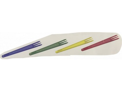 Vidlička na hranolky barevná mix 7,5cm (cena za 2000ks)