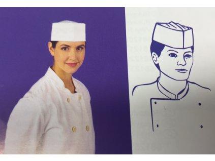 Kuchařská čepice z papíru lodička (cena za 25ks)