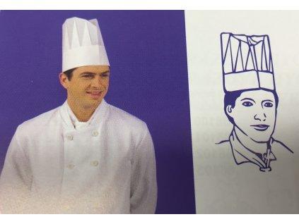 Kuchařská čepice vysoká bílá (cena za 10ks)