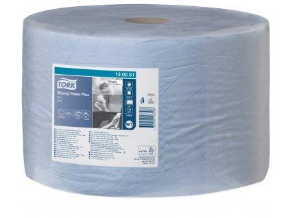 Tork papírová utěrka PLUS v roli modrá