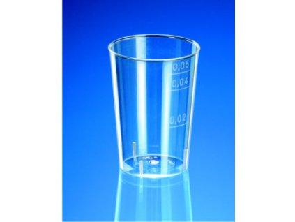 Kelímek na alkohol 2/4cl krystal (cena za 50ks)