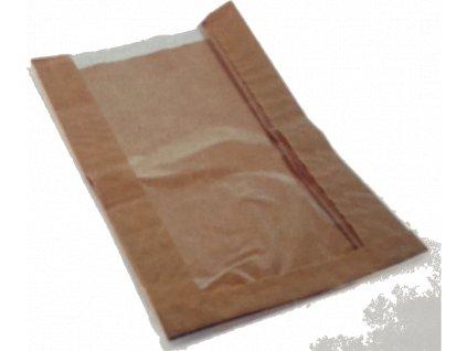 Papírový sáček s okénkem 120+40x330mm (cena za 1000ks)