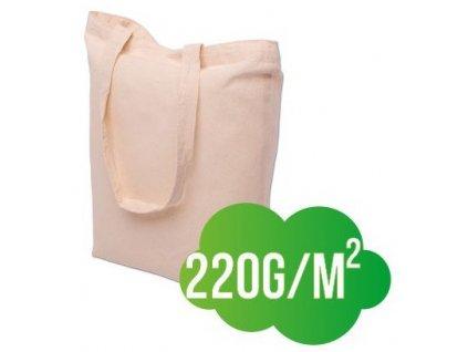 Bavlněná nákupní taška přírodní - silná - 380x420mm