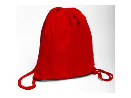 Bavlněný batoh na záda červený