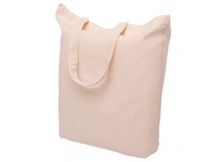 Bavlněná nákupní taška přírodní - ucho krátké - 380x420mm