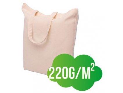 Bavlněná nákupní taška přírodní ucho krátké - silná - 380x420mm