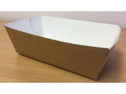 Papírová miska na hranolky střední 15,2x8,2x4,3cm (cena za 100ks)