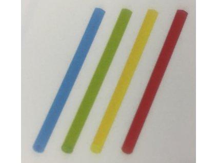 Brčko koktejlové JUMBO Mix barev 13cm, pr.8mm - 150ks