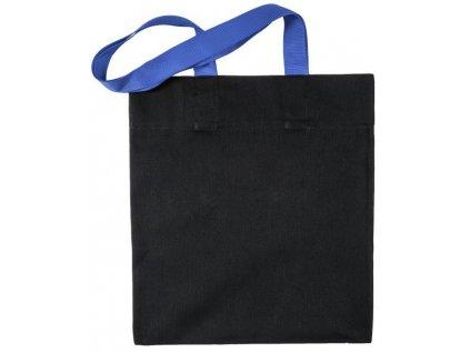 Taška bavlněná černá s modrými uchy