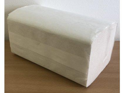 Papírové ručníky skládané ZZ bílé dvouvrstvé