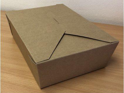 Papírový menubox na jídlo velký (cena za 50ks)