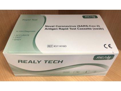 Antigenní test na COVID REALY TECH z kraje nosu (cena za 25 testů)