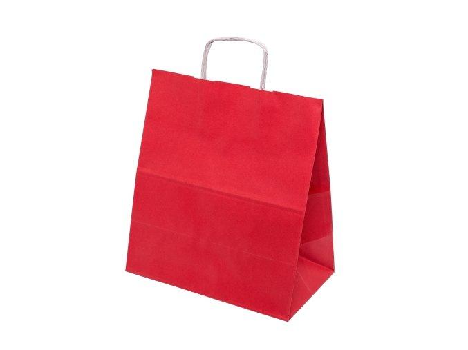 Papírová taška barevná 305x170x340mm - červená