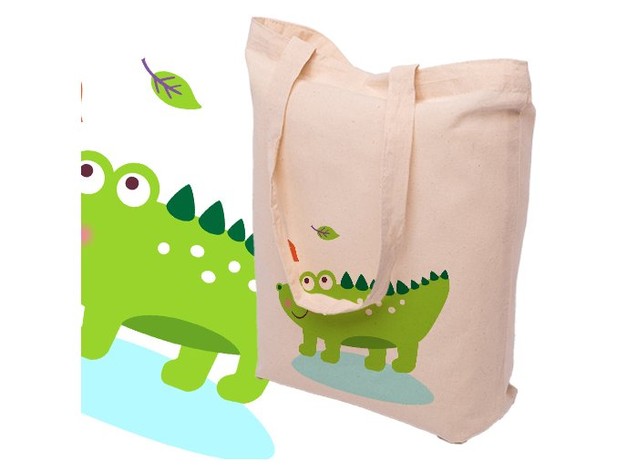 Nákupní bavlněná taška KROKODÝL