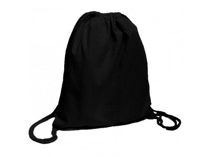 Bavlněný batoh na záda černý