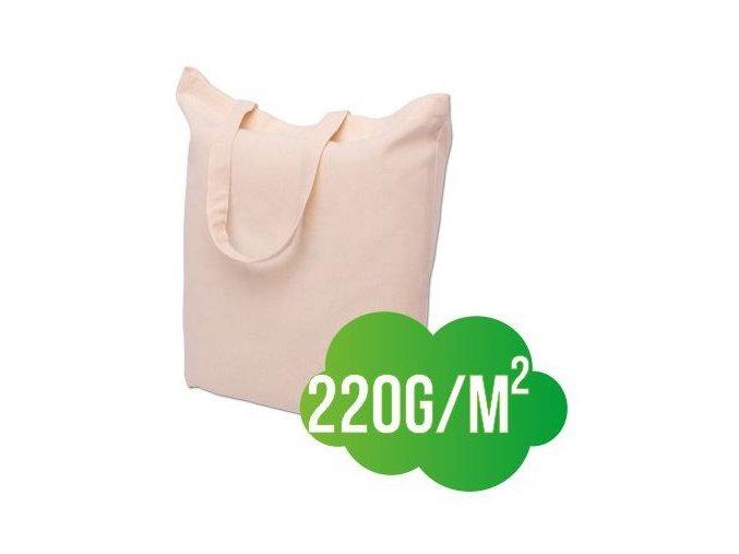 Bavlněná nákupní taška přírodní ucho krátké - silná