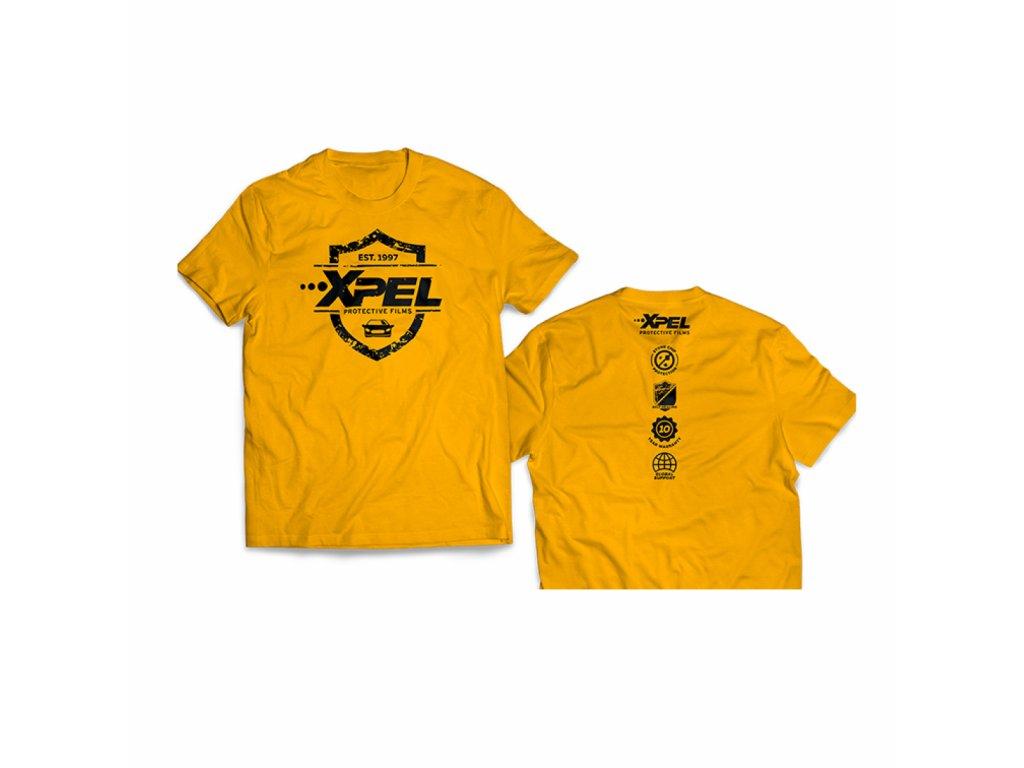 xpel men´s yellow w/black trim t-shirt l