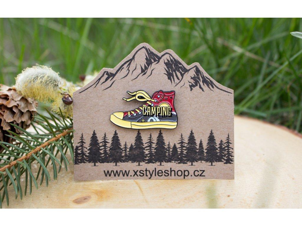 Odznak, pin Teniska - Camping Life