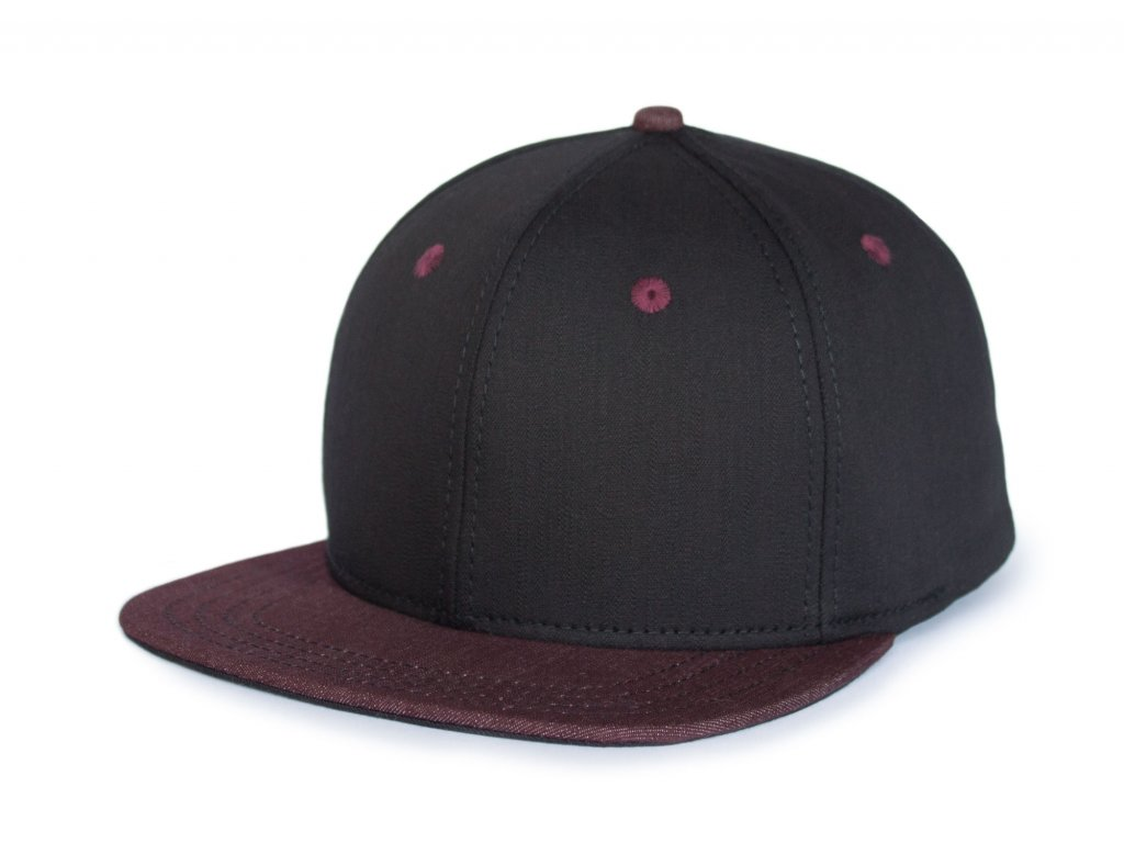 Trucker kšiltovka Black denim Snapback