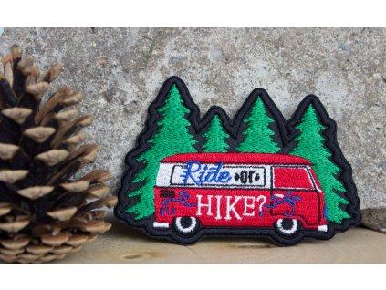 Nažehlovačka Ride or Hike - červená