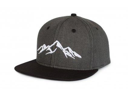 Snapback kšiltovka Grey denim hory