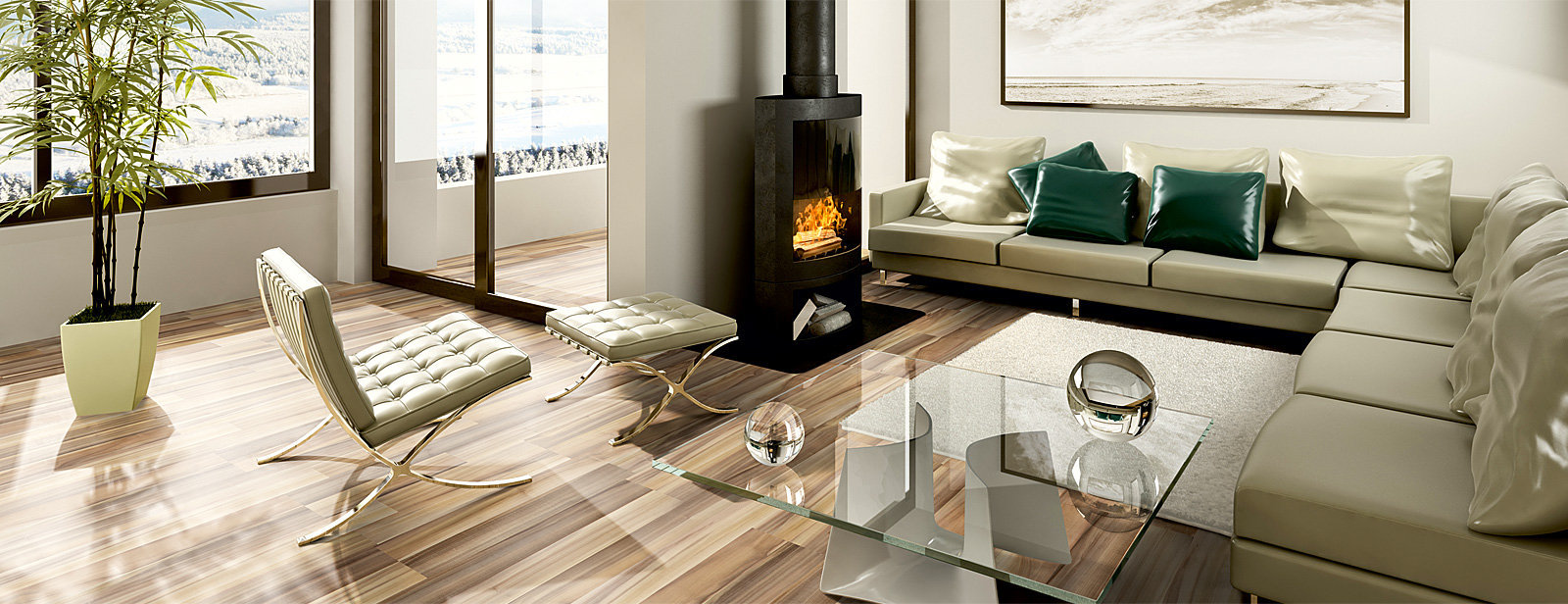 Podlaha v obývacím pokoji